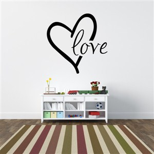 Love - Vinyl Wall Decal - Wall Quote - Wall Decor