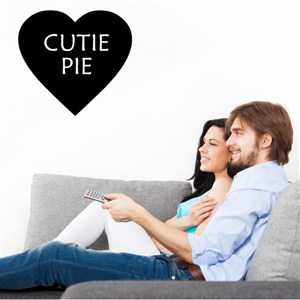 Cutie Pie - Vinyl Wall Decal - Wall Quote - Wall Decor