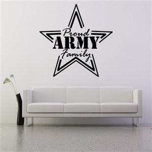 Proud Army Family - Vinyl Wall Decal - Wall Quote - Wall Decor