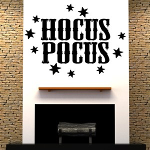 Hocus Pocus - Vinyl Wall Decal - Wall Quote - Wall Decor