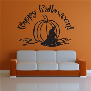 Happy Halloween! - Vinyl Wall Decal - Wall Quote - Wall Decor