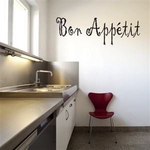 Bon Appetit - Vinyl Wall Decal - Wall Quote - Wall Decor