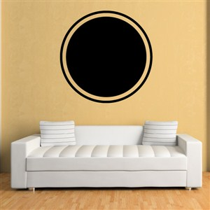Circle Frame - Vinyl Wall Decal - Wall Quote - Wall Decor