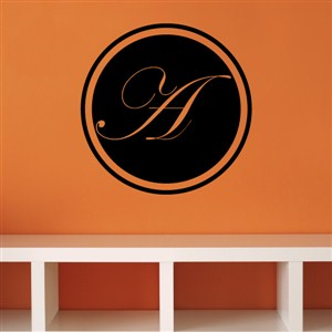 "Edwardian Letter ""A"" Monogram on the Circle Vinyl Wall Decal"