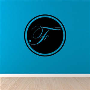 Circle Frame Monogram - F - Vinyl Wall Decal - Wall Quote - Wall Decor