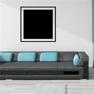 Square Frame - Vinyl Wall Decal - Wall Quote - Wall Decor