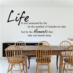 Life is not measured by the number of breaths we take but by the moments