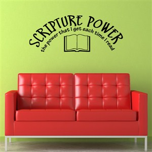 Scripture power the power that I get each time I read