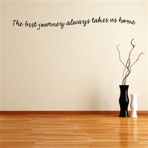 The best journey always takes us home