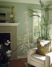 Bamboo wall decal stickers