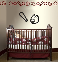 Baby Baseball wall decals stickers