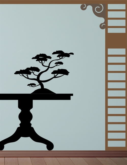Bonsai Tree Wall Decal Sticker