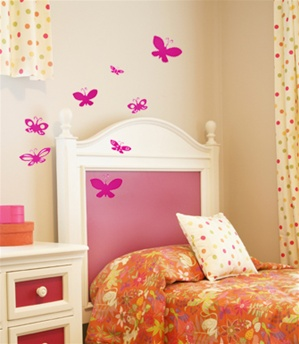 Cutesy Butterflies wall decals stickers