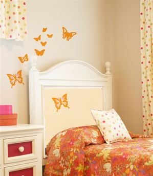 Garden Butterflies wall decals stickers