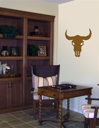 Cow Skull western wall decal sticker