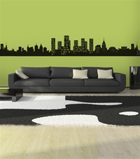 City Skyline wall decal