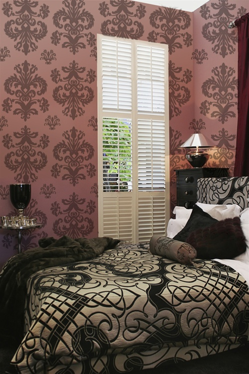 Damask Wall Decals Stickers · View Larger Photo