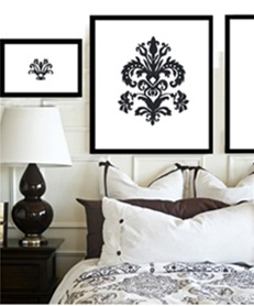 These Damask wall decals ...  sc 1 st  Wall Slicks & Damask wall decals stickers