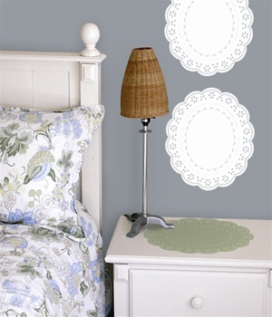 Doily wall decals stickers