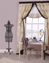 Dressform wall decal sticker