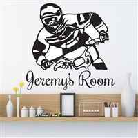 Custom Personalized Name and Dirt Bike Wall Decal Sticker - DirtBikeCust04