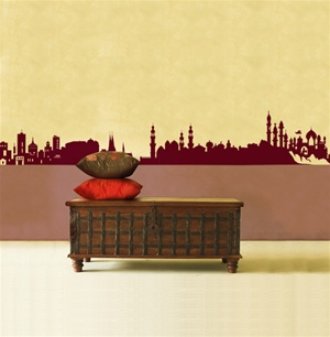Eastern Skyline wall decal sticker