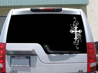 Elegant Cross car decal sticker