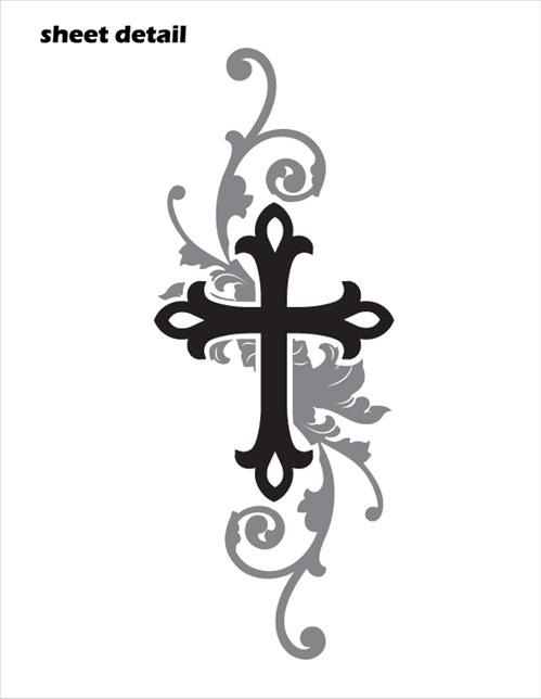Elegant Cross Car Decal Sticker