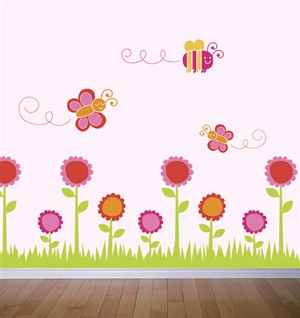 Flower Bugs wall decals stickers