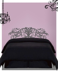 Glamour Headboard wall decal sticker