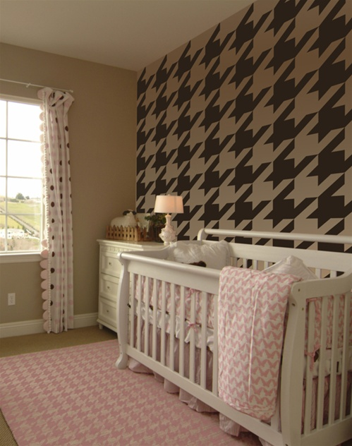 & Houndstooth pattern wall decals stickers