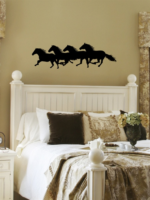 Wild Horses Western Wall Decal Sticker - Wall decals horses