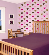 Heart wall decals stickers