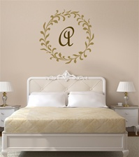 Leafy Monogram frame wall decal sticker