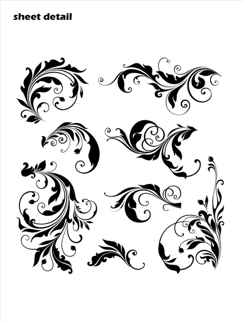 Leafy Swirls Scrolls Wall Decals Stickers