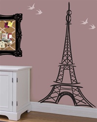 Artful Eiffel Tower wall decal