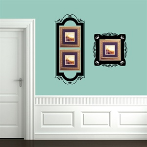 Ornamental Frame Set Wall Decals Stickers