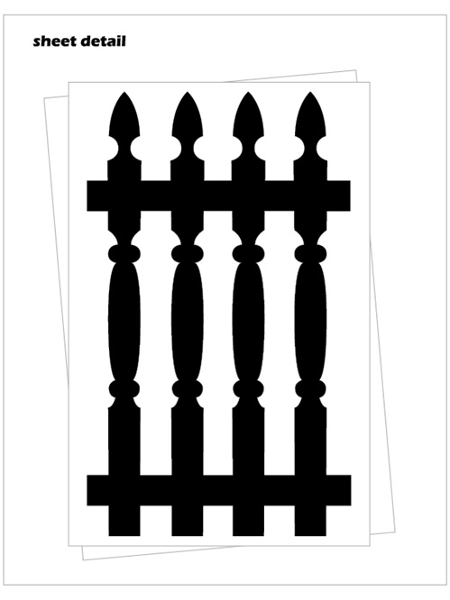 Picket Fence Wall Decal Stickers