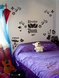 Pretty Punk wall decals stickers