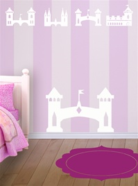 Princess Castles wall decals stickers