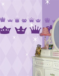 Princess Crowns wall decals stickers
