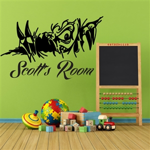 Custom Personalized Name and Ripped Wall Decal Sticker - RippedCust01