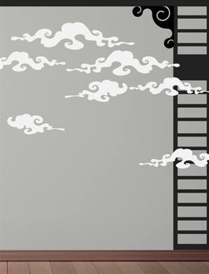 Smoky Asian Clouds wall decals stickers