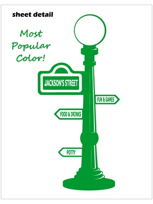 Sesame street sign post wall decal sticker pronofoot35fo Choice Image