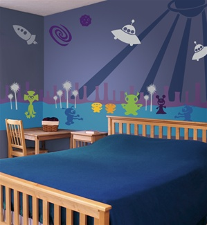 Strange Planet alien wall decals stickers