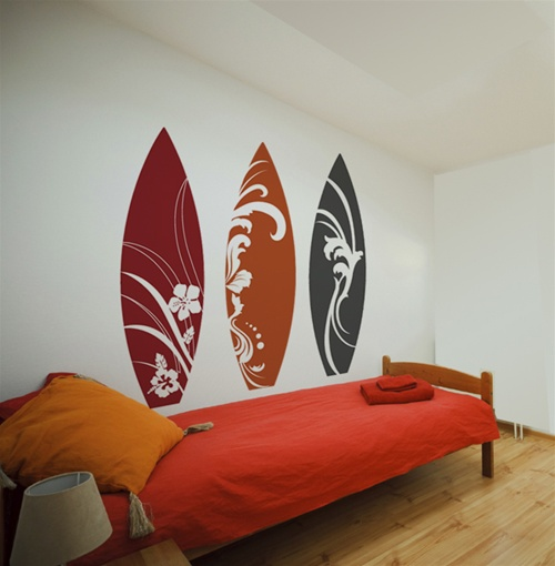 Custom Car Decal >> Surfboard wall decals stickers