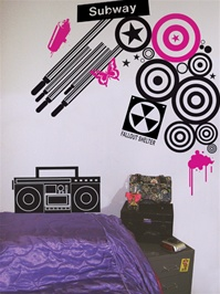 Urban Underground wall decals stickers
