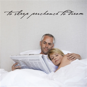 To sleep perchance to dream - Vinyl Wall Decal - Wall Quote - Wall Décor
