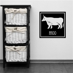 moo - Vinyl Wall Decal - Wall Quote - Wall Decor