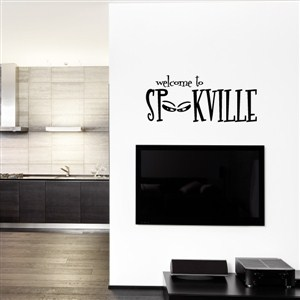 welcome to spookville - Vinyl Wall Decal - Wall Quote - Wall Decor